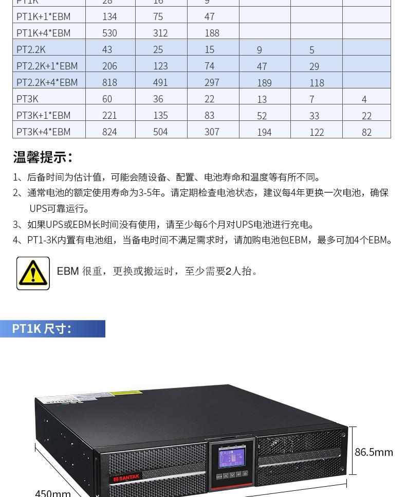 山特PT 3000灵霄系列UPS-不间断电源UPS